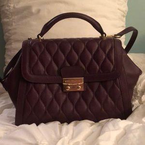 Vera Bradley Stella aubergine leather handbag